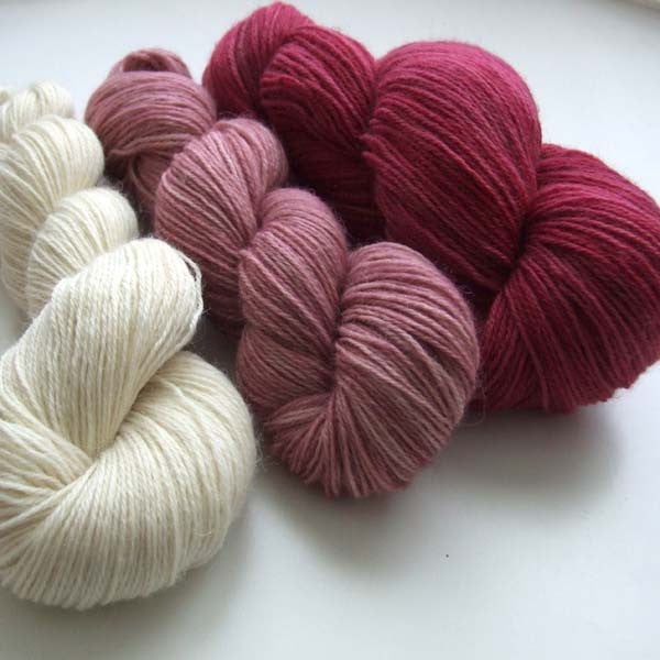 Raspberry Fool - yarn bundle for Southwold in the Snow pattern