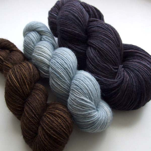 Squid Ink - yarn bundle for Southwold in the Snow pattern