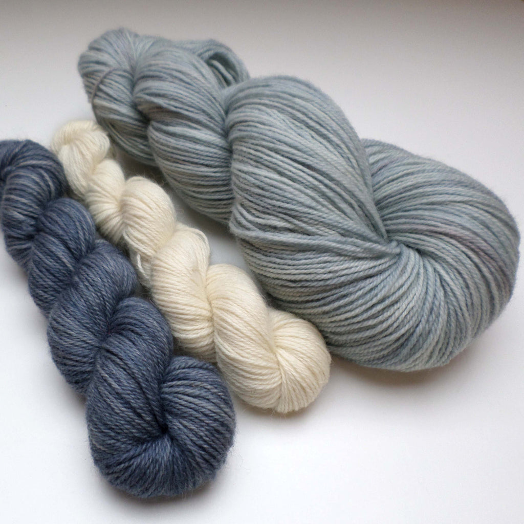 Yarn bundle for Southwold in the Snow pattern - Stormy Waters