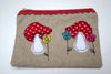Dotty Toadstools Linen purse