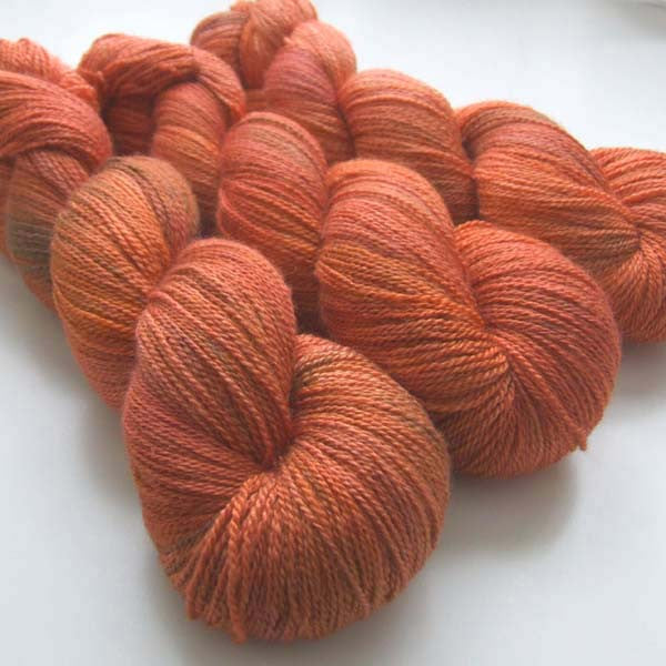 Lustrous BFL Heavy Lace - Flame