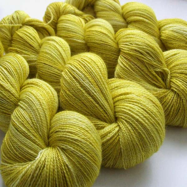 Lemon Lips - Heavy Lustrous BFL Lace
