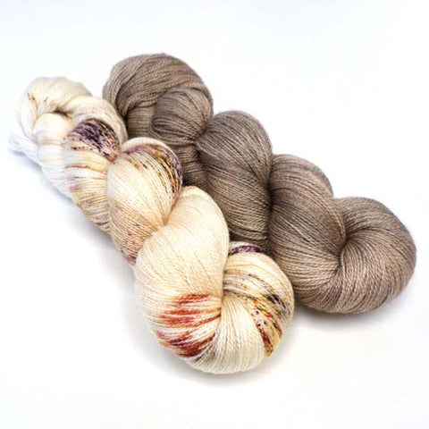 Light as Air Yarn Bundle - Dodo Feathers & Latte