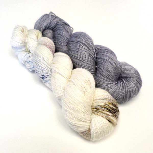 Light as Air Yarn Bundle - Snow Fields & Parma Grey