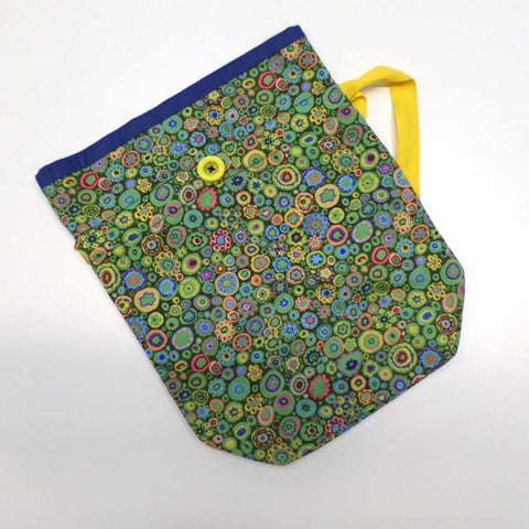 Bright Green Circles Project Bag