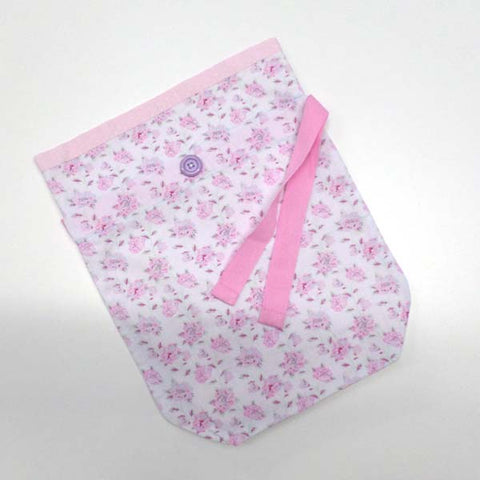 Pink and White Floral Project Bag
