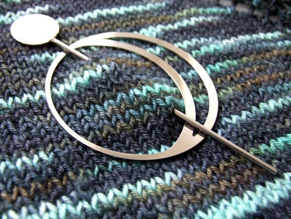 Big Moon Shawl Pin