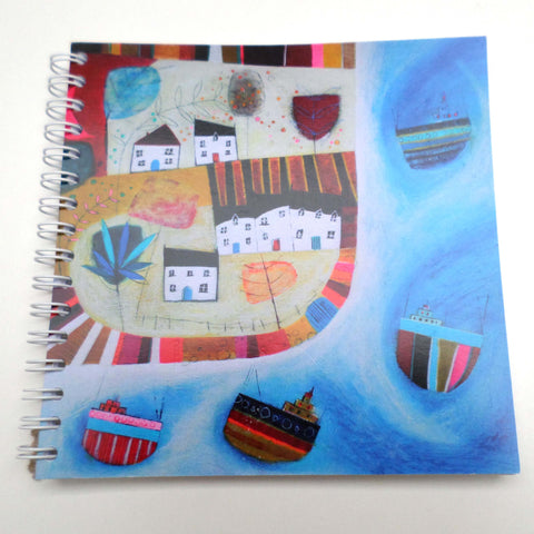 Nikki Monaghan notebook - Birds and Four Boats