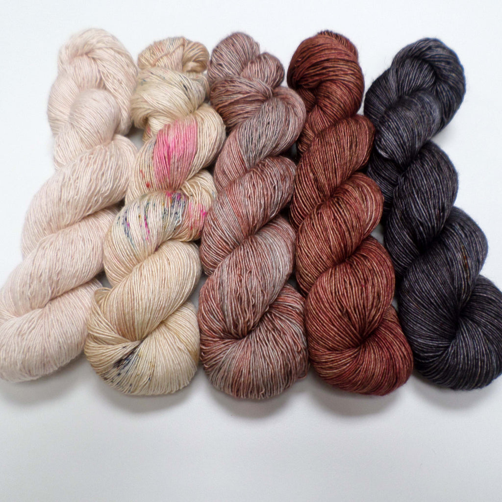 Bronzed Rose - yarn bundle for Joji Locatelli's Mystery Wrap KAL