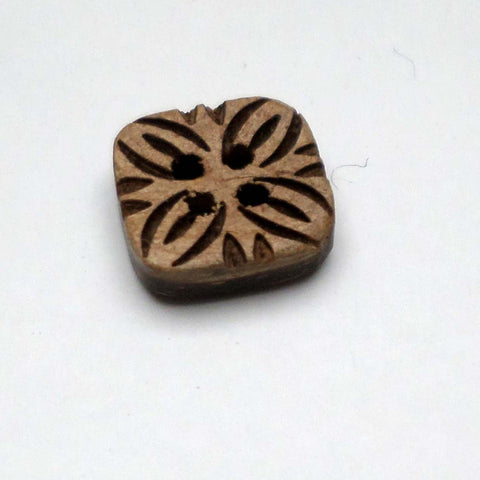 Square coconut shell