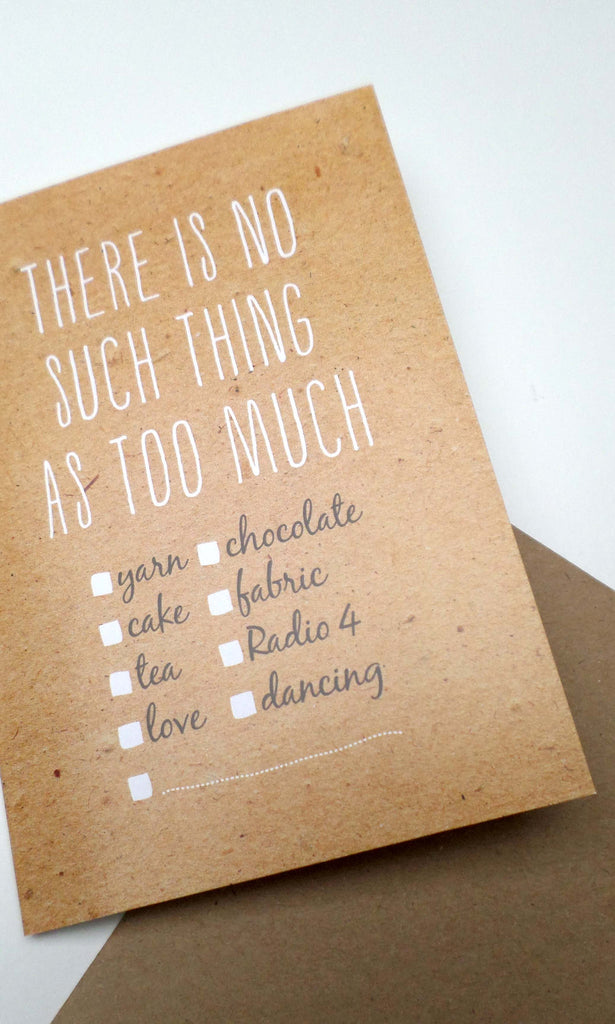 There's No Such Thing -Tilly Flop greetings card