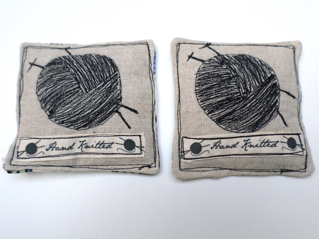 Ball of Yarn with butterflies on linen lavender sachets