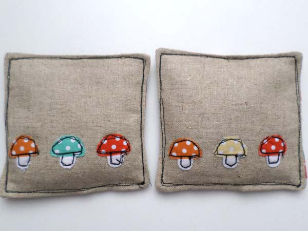 Cute Mushrooms lavender sachets