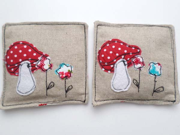 Double Toadstools lavender sachets