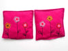 Hot Flowers on Cerise lavender sachets