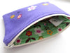 Purple Flowers Felt purse