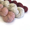 Tweedore Floozy Cardigan yarn bundle - Rose Cottage, Naked and Mapledurham