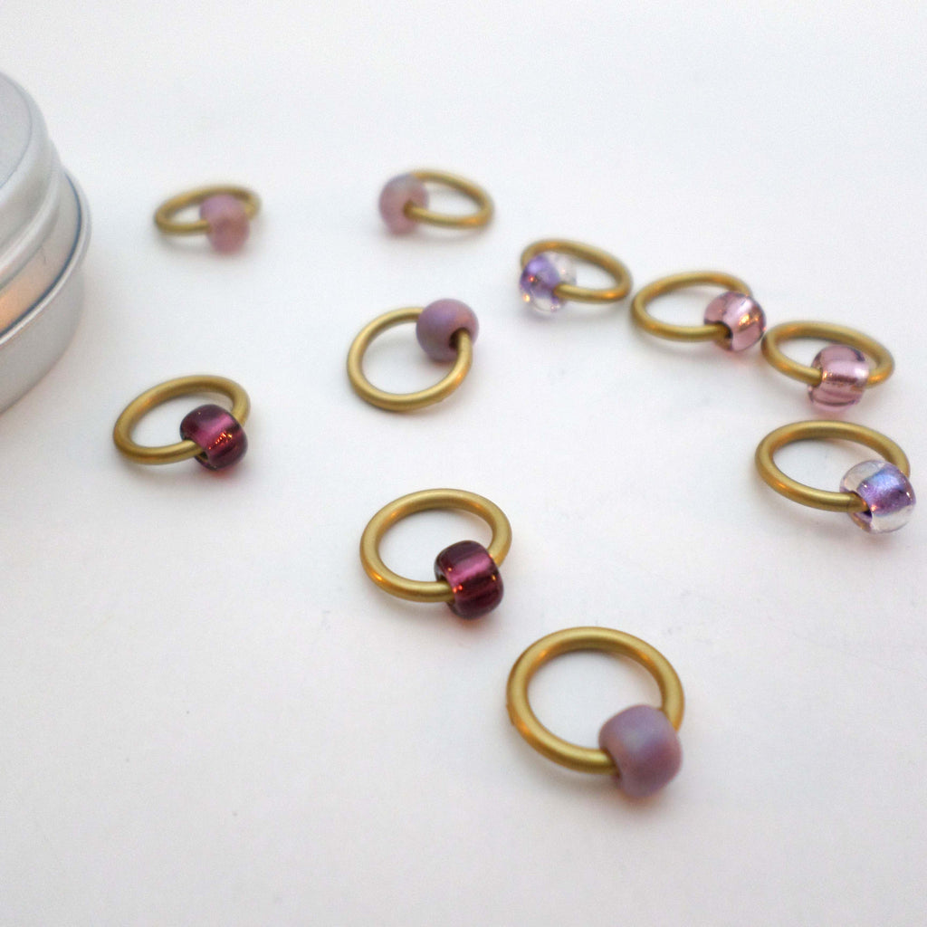 Dusky Sunset ringO Stitch Markers