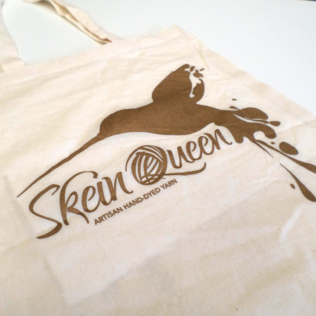 Skein Queen tote bag - old gold