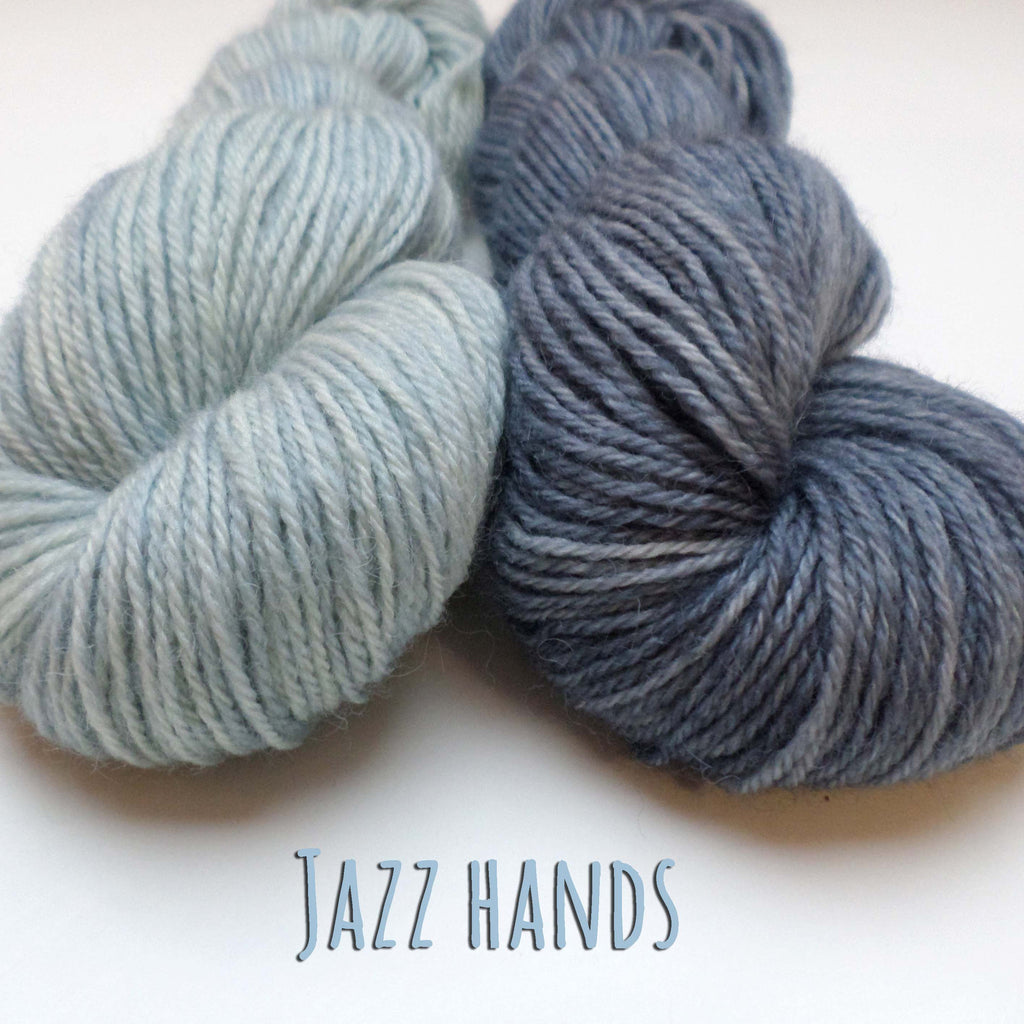 Yarn bundle for Jazz Hands mittens by Kate Davies - Powder and Granite