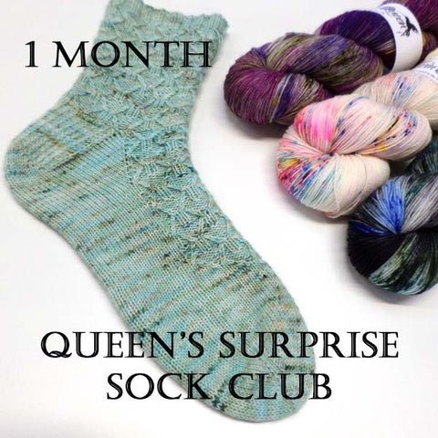 Queen's Surprise Sock Club - 1 Month - July