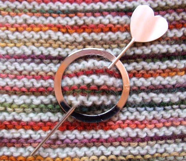 Little Love Heart Shawl Pin