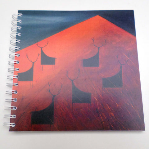 Nikki Monaghan notebook - Stags on Red Mountain