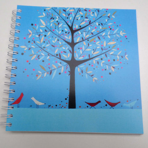 Nikki Monaghan notebook - Tree and Red Birds