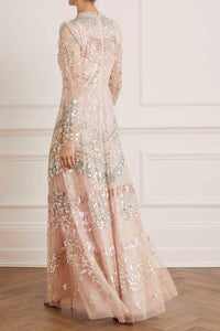 Angeline Sequin Gown - Pink