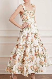 Dancing Roses Ankle Gown