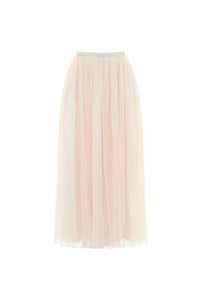 Kisses Tulle Midaxi Skirt - Pink