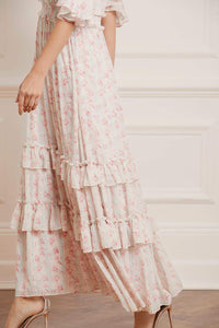 Molly Blossom Ankle Gown - Ivory