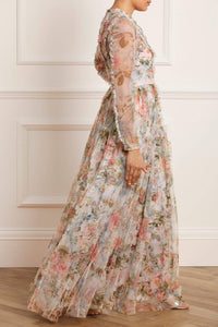 Rose Garden V-Neck Gown