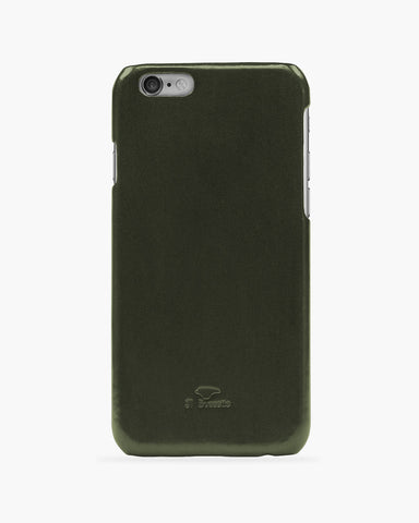 iPhone 6 Plus Leder Cover Dunkelgrün