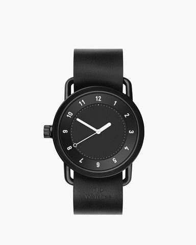 TID No. 1 Black / Black Lederarmband von TID Watches