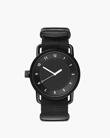 TID No. 1 Black / Black Nylon Armband