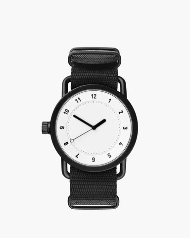 TID No. 1 White / Black Nylon Armband