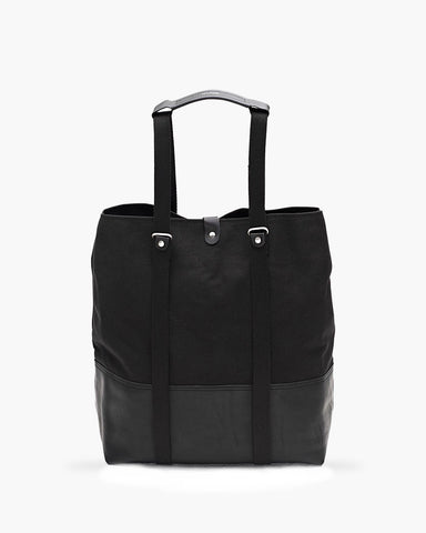 Shopper Black Leather