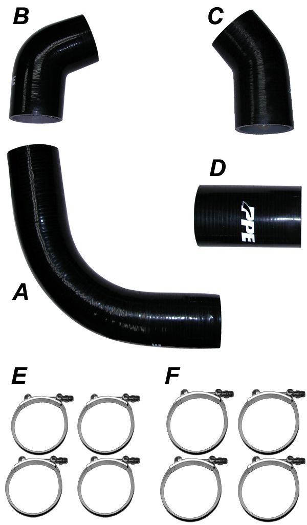 PPE Diesel | LB7 Silicone Hose And Clamp Kit Black | Chevy/GMC Duramax 6.6L (2002-2004)