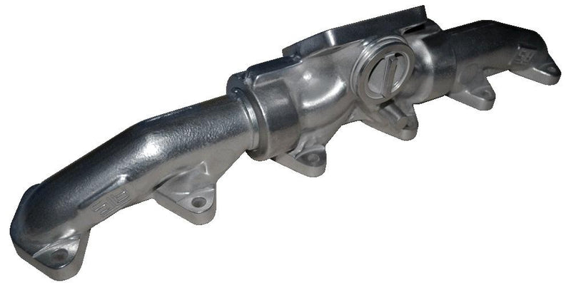 ATS Diesel | 3-Piece Pulse Flow Exhaust Manifold Kit T-4 Turbo Flange Center Wastegated Ceramic Coated Chrome | Dodge/Ram Cummins 5.9L (1998.5-2007) 6.7L (2007.5-Current)