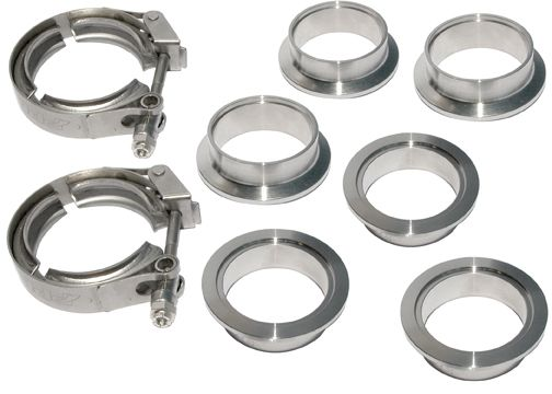 PPE Diesel | 2.0 Inch V Band 8 Piece Set 2C 3M 3F QR | Exhaust Hardware