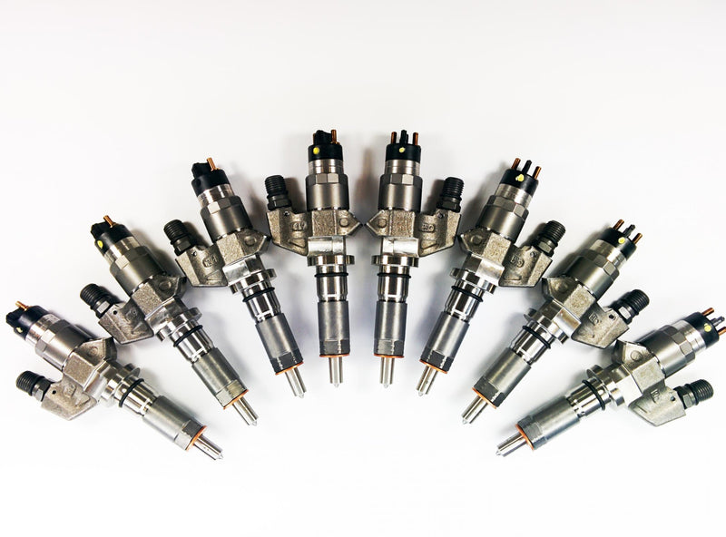 Dynomite Diesel | Reman Injector Set SAC Nozzle 150 percent Over | Chevy/GMC Duramax 6.6L (2001-2004)