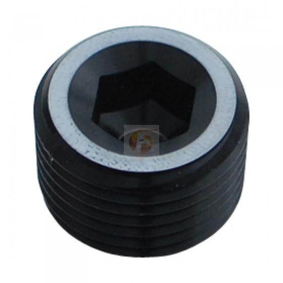Fleece Performance | 1/8 Inch NPT Hex Socket Plug Black | Universal