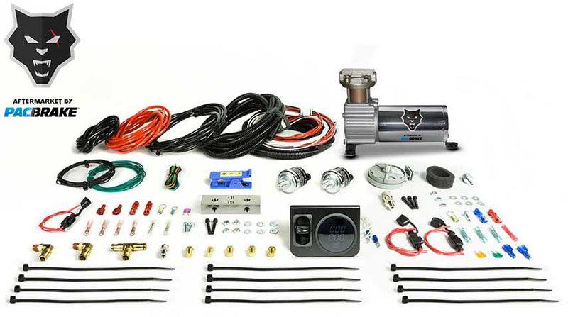 Pacbrake | Premium In Cab Control Kit For Simultaneous Spring Activation W/HP325 Compressor Air Spring Dash Switches Pre Built Harnesses Fittings Fasterners and Everything Required For a Complete Install | Air Spring Controls