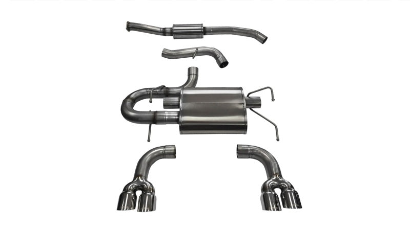Corsa 08-13 Subaru Impreza Hatchback STI 2.5L Turbo Manual Polished Sport Cat-Back Exhaust