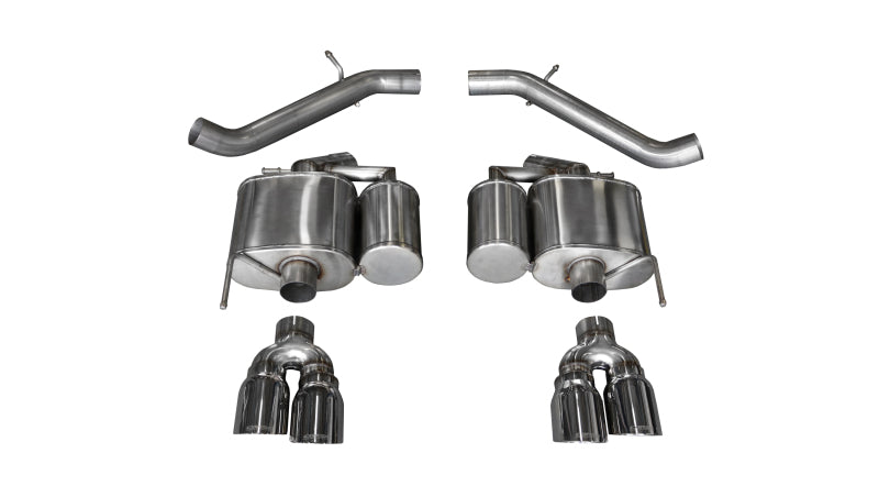 Corsa 16-18 Cadillac ATS-V 3.6T 4in Polished Sport Axle-Back Exhaust