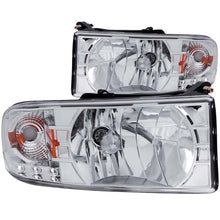 Load image into Gallery viewer, ANZO 1994-2001 Dodge Ram Crystal Headlights Chrome w/ LED