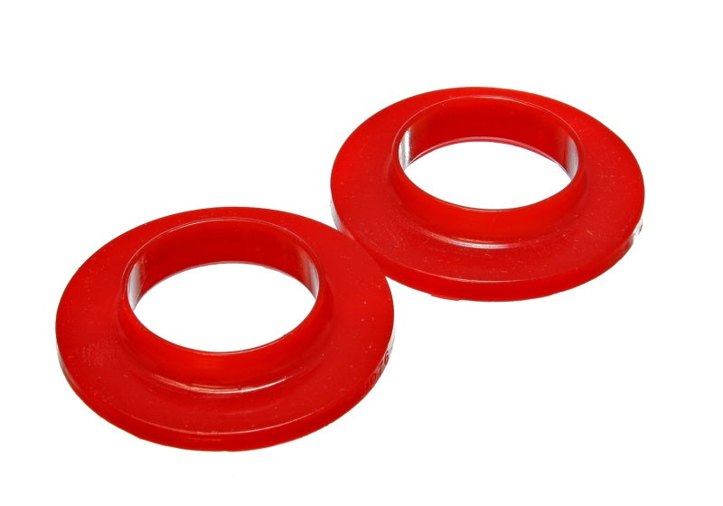 Energy Suspension Universal 2 1/8in ID 3 3/4in OD 3/4in H Red Coil Spring Isolators (2 per set)
