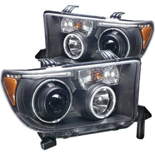 Load image into Gallery viewer, ANZO 2007-2013 Toyota Tundra Projector Headlights w/ Halo Black (CCFL)