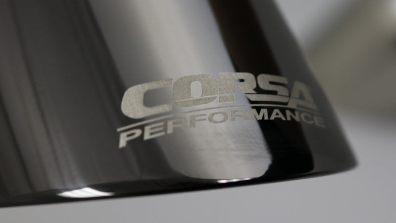 Corsa Single Universal 2.5in Inlet / 4.5in Outlet Black PVD Pro-Series Tip Kit